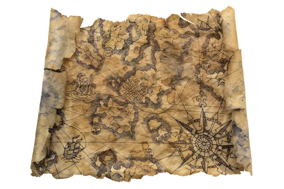 Hartă maritimă din Evul Mediu.