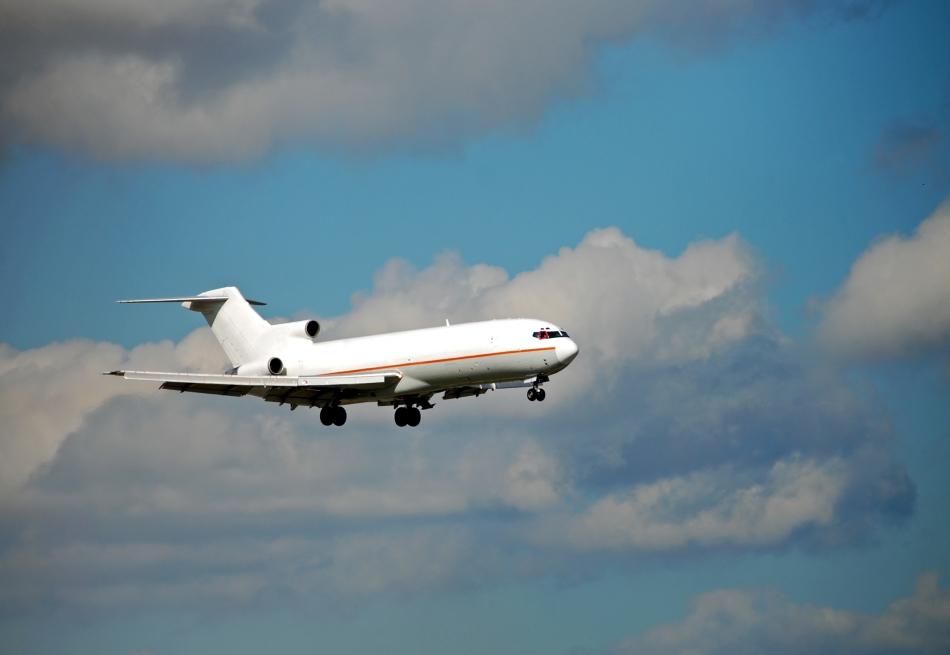 Aeronavă de tipul Boeing 727, similară cu cea  deturnată de Cooper.