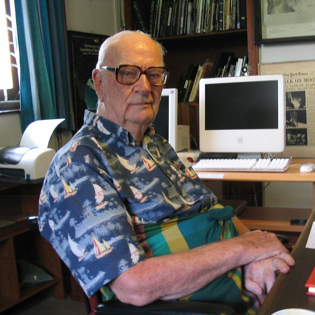 Scriitorul Arthur C. Clarke