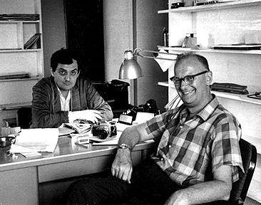 Arthur C. Clarke şi regizorul Stanley Kubrick