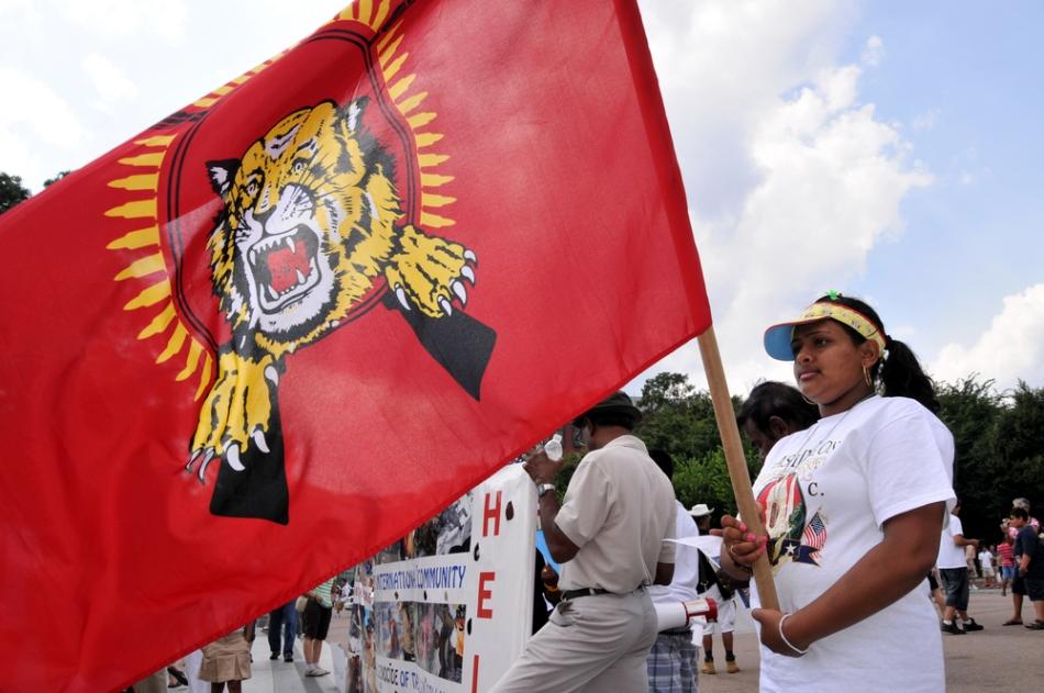 Demonstraţie publică a tamililor din Elveţia.
