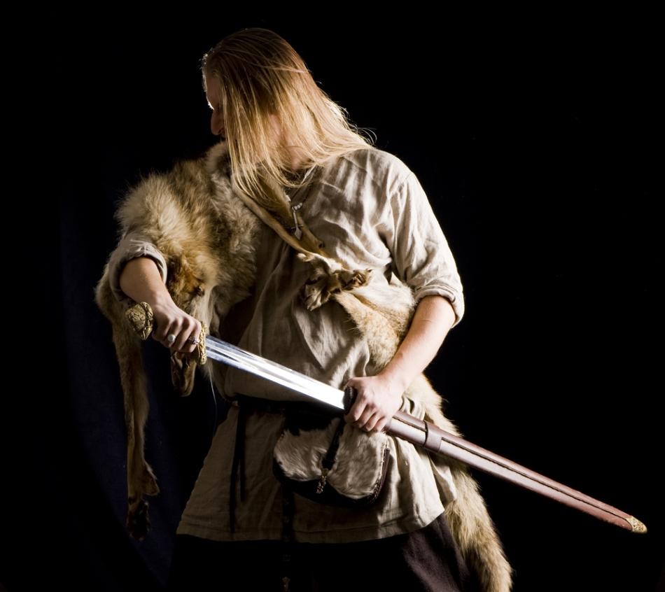 Un cavaler medieval din Scandinavia.