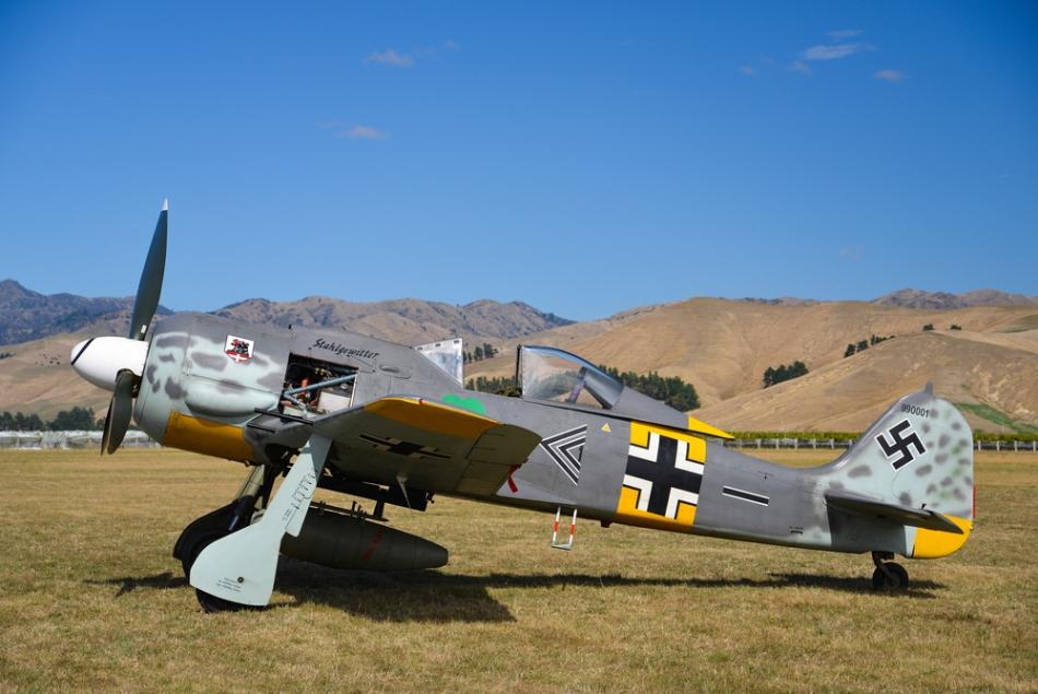 Foke Wulf 190, avionul selectat pentru misiuni kamikaze în Europa.