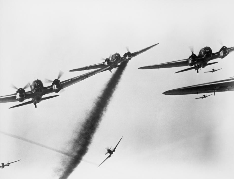 Aşa se sfârşeau deseori luptele aeriene.