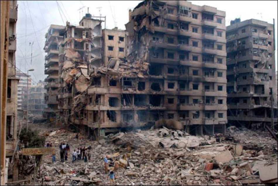 Urmele atacului cu bombe din Liban.