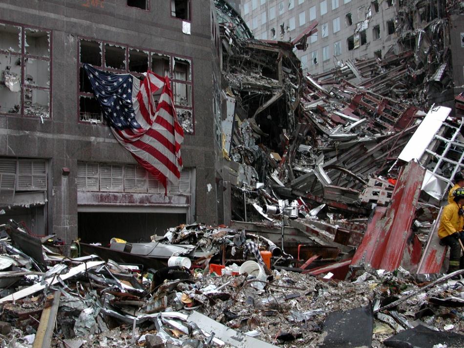 Urmele de la faţa locului ale atentatului din New York.