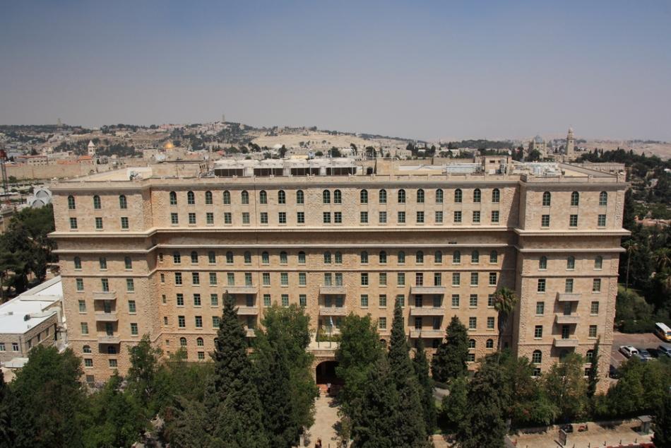 Acesta este Hotelul King David, astăzi refăcut exemplar.