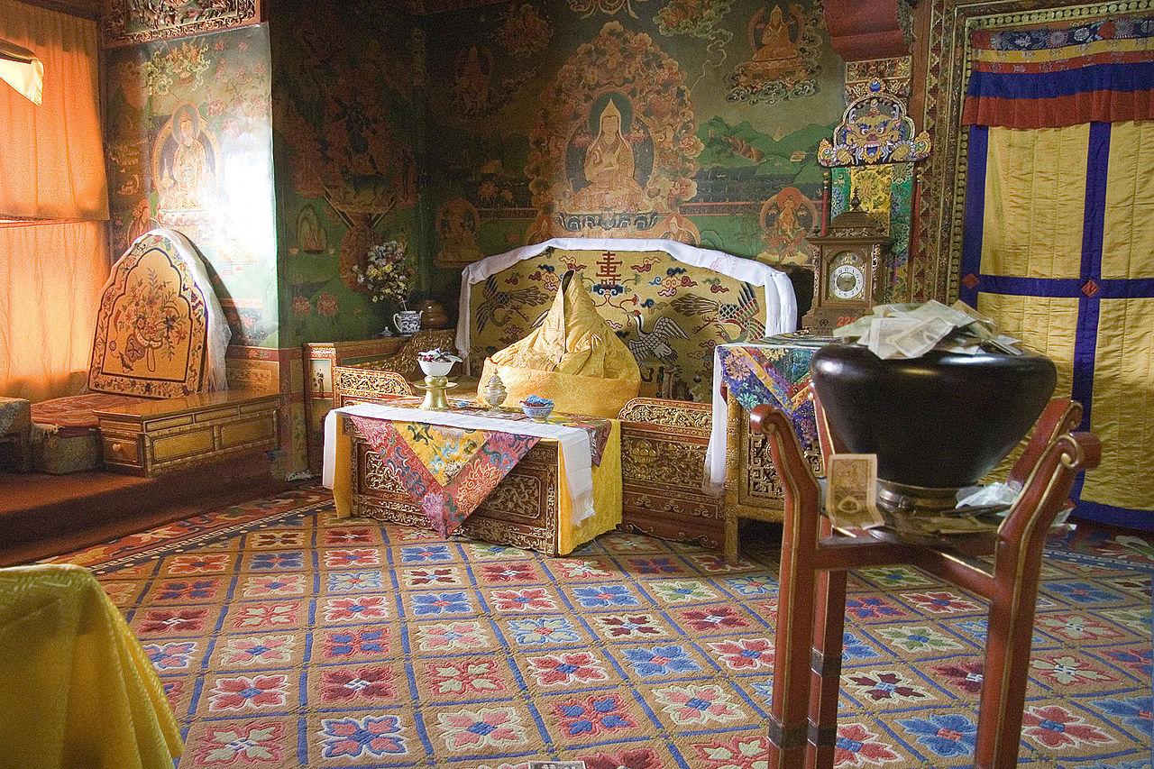 Biroul lui Dalai Lama, Palatul Potala (FOTO: Wikipedia)