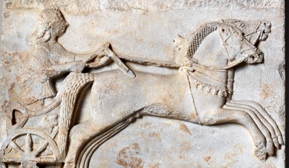 artefact antic reprezentand un car de curse