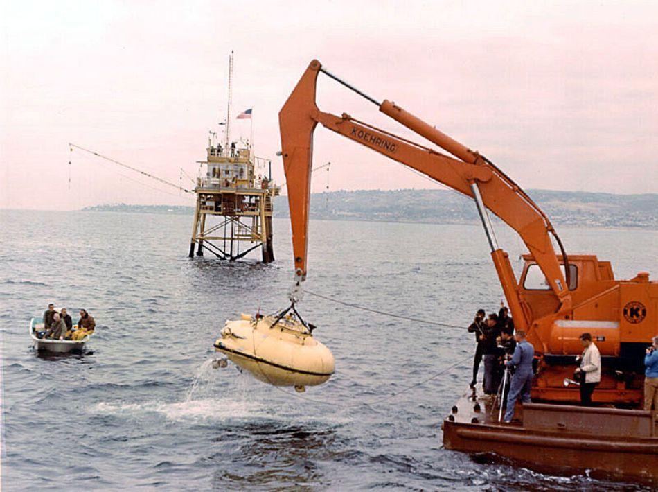 Unul dintre batiscafurile construite de J.Y. Cousteau