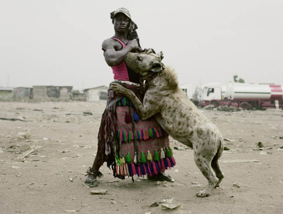 Gest de încredere şi tandreţe dintre un nigerian şi hiena sa