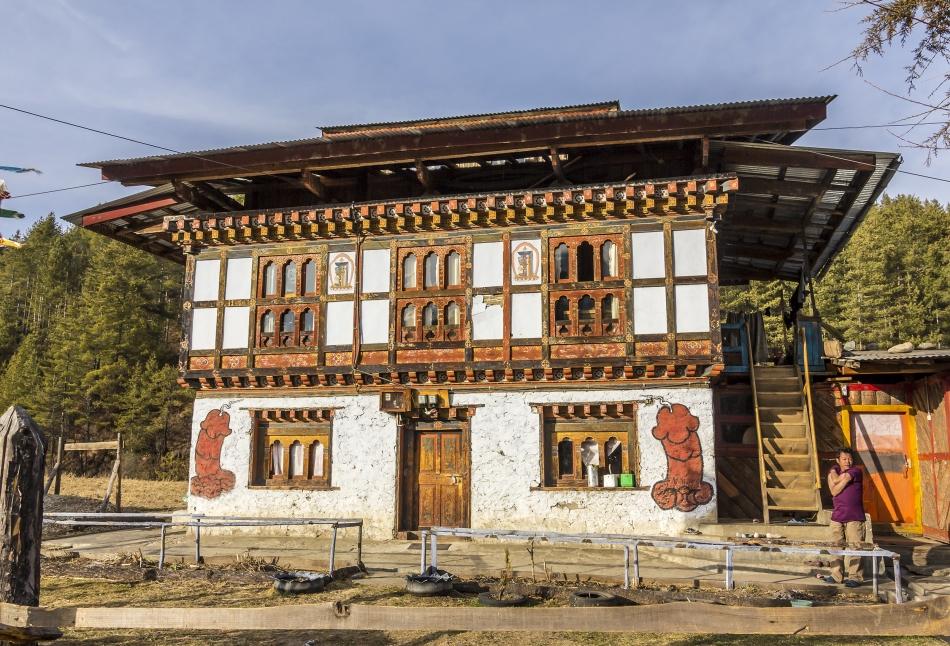 Casă tradiţională din Nepal.