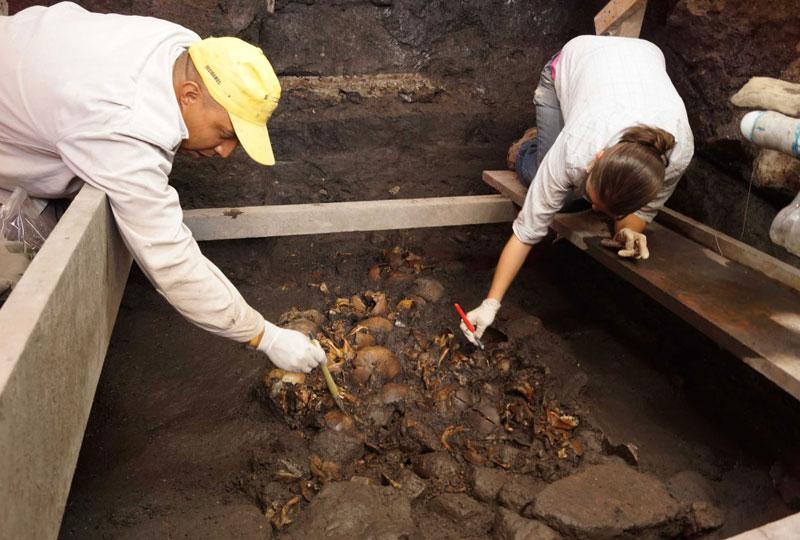 Descoperire macabră: rămăşiţele unui ritual aztec brutal au fost găsite în Ciudad de Mexico
