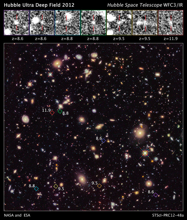 Hubble a surprins cea mai veche lumină observată vreodată în Univers