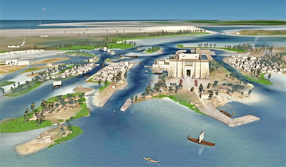 Heracleion a dispărut sub Marea Mediterană acum 1.200 de ani