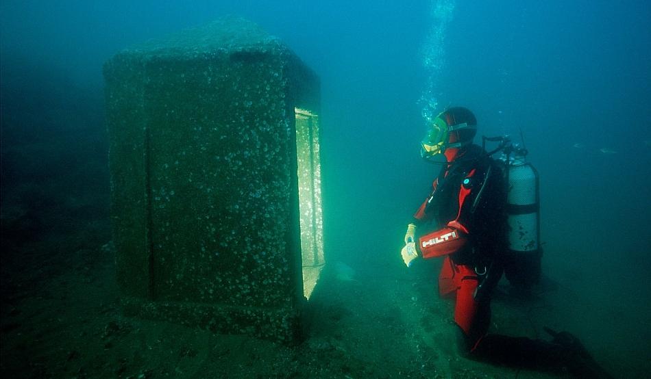 Heracleion a dispărut sub Marea Mediterană acum 1.200 de ani / Foto: © Franck Goddio
