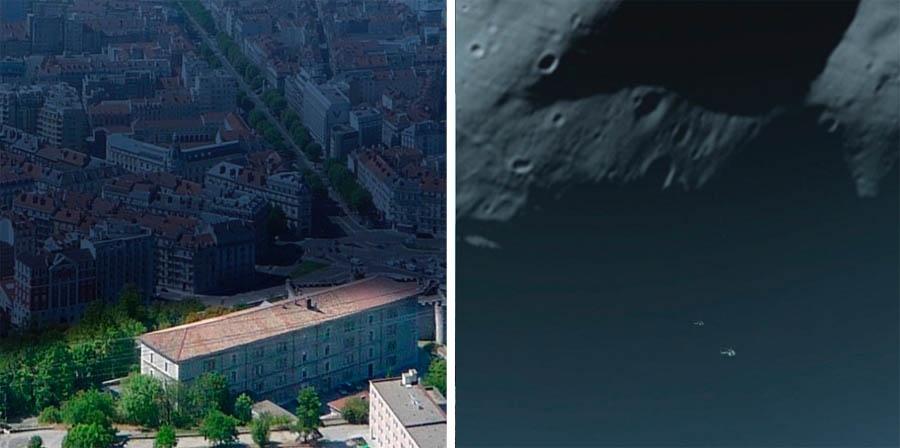 Imagini inedite: Pământul sub umbra lunii marţiene