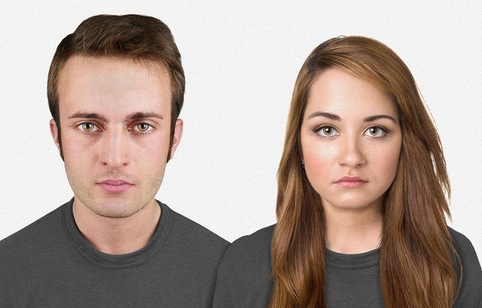 Un bărbat şi o femeie peste 20.000 de ani