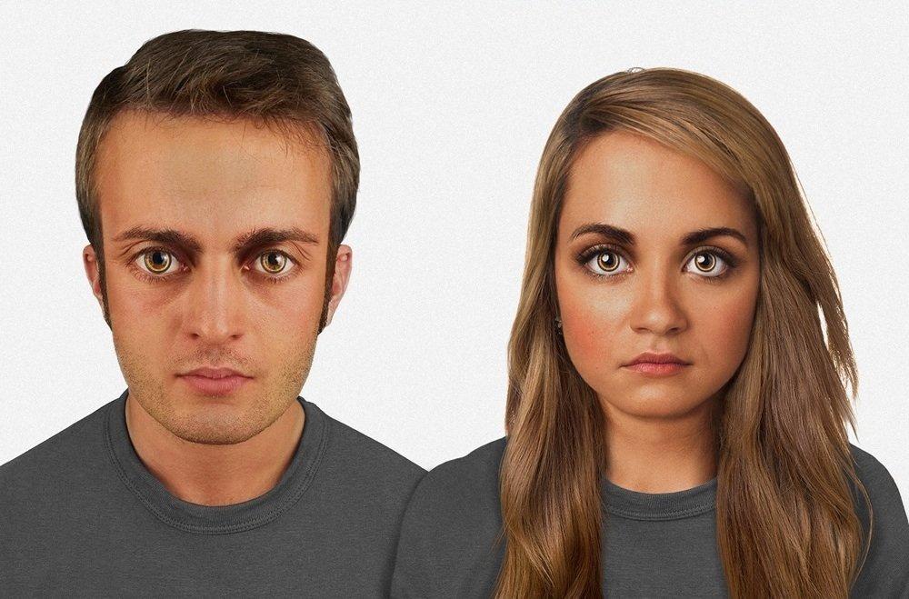 Un bărbat şi o femeie peste 60.000 de ani
