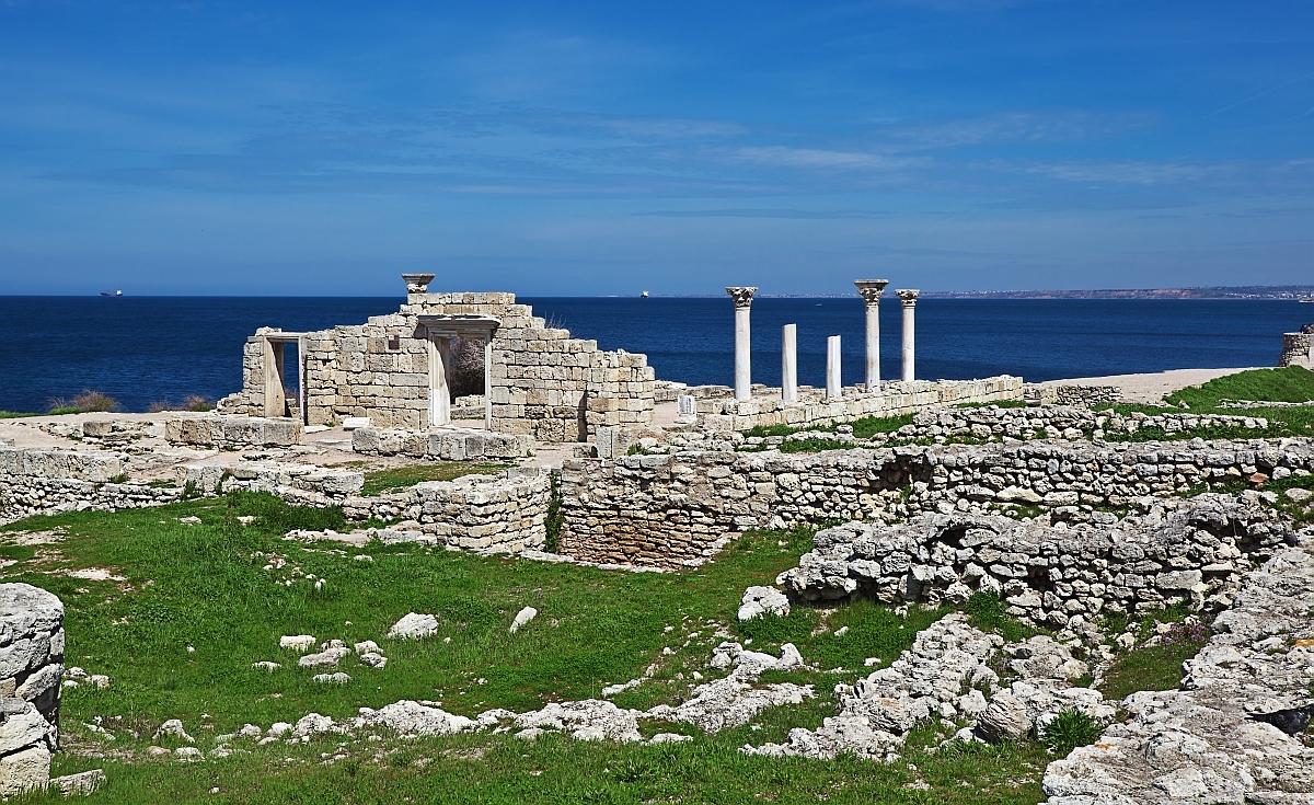 Ruinele anticului oras grecesc Chersonese, Sevastopol, Crimea