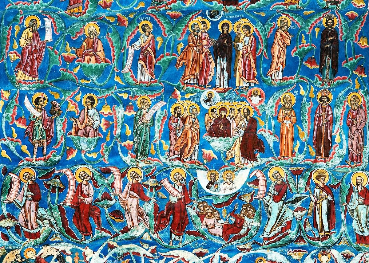 Detaliu surprins în mănăstirea Moldoviţa