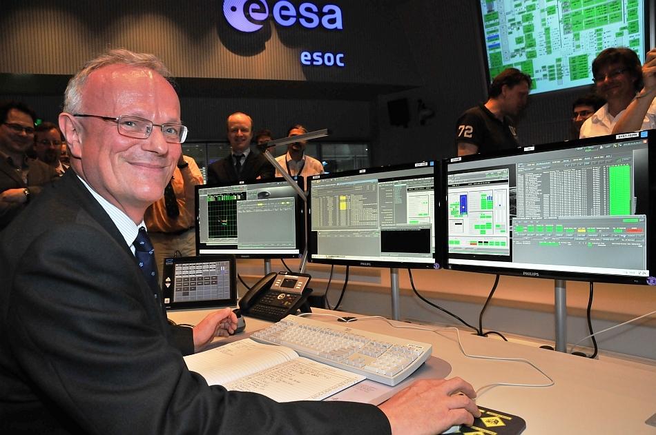 Momentul în care a fost lansată ultima comandă spre telescopul Herschel