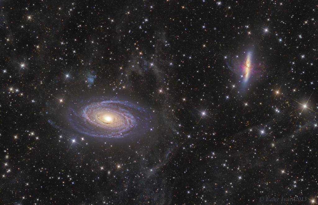 M81–82 and Integrated Flux Nebula