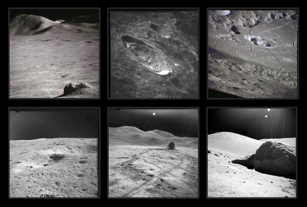 Luna, în diferite imagini