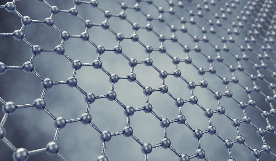 Grafenul - o folie de carbon cu grosimea de un atom - este unul dintre cele mai rezistente materiale cunsocute şi are proprietăţi electrice şi termice excepţionale.