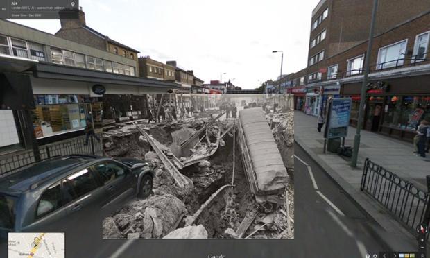Pe 14 octombrie 1940, o bombă a distrus parşial gara Balham din Londra, în timpul raidurilor aeriene germane