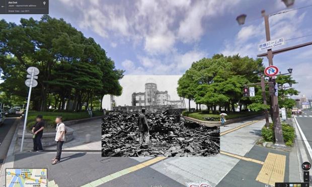 Ruinele lăsate după explozia bombei atomice de la Hiroshima, august 1945