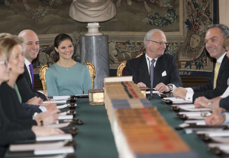 Regele Carl XVI Gustaf şi prinţesa Victoria