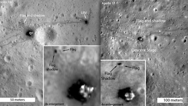 Fotografii realizate în anul 2012 de Lunar Reconnaissance Orbiter