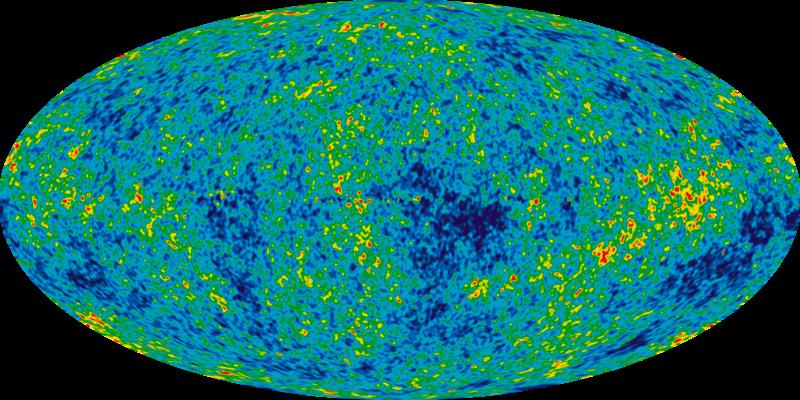 Harta radiaţiei cosmice de fond (CMB - cosmic microwave background)