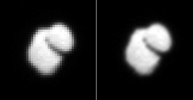 Cometa 67P/Churyumov–Gerasimenko, fotografiată de OSIRIS de la 12.000 km distanţă