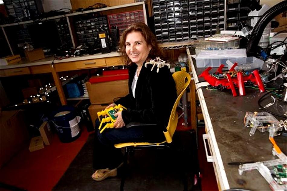 """Daniela Rus, specialist în robotică la MIT, unul dintre inventatorii tehnologiei """"origami"""" de construire a roboţilor."""