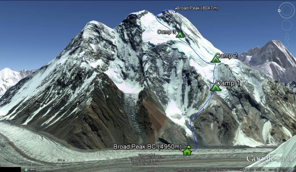 La 23 iulie, Găvan a reuşit să urce pe Broad Peak (8.047 de metri), fără oxigen suplimentar.