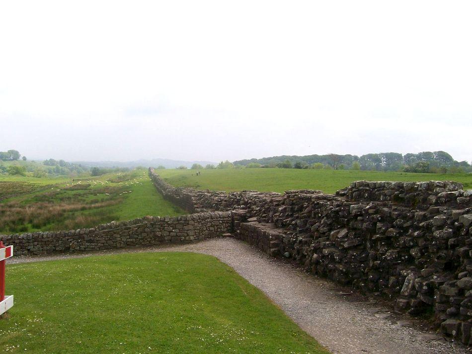 Zidul lui Hadrian în apropiere de Birdoswald.