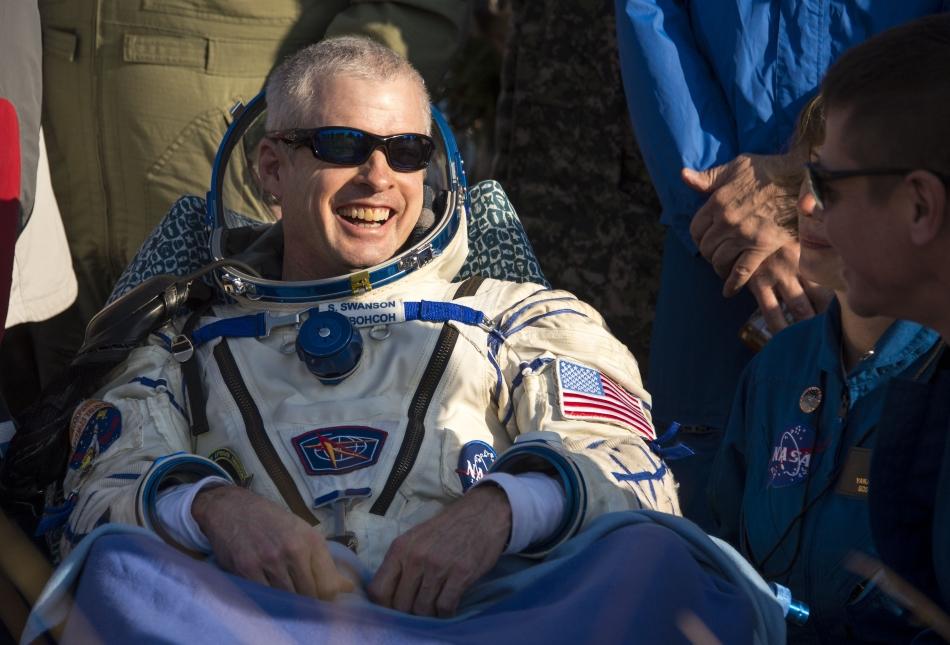 Astronautul american Steven Swanson