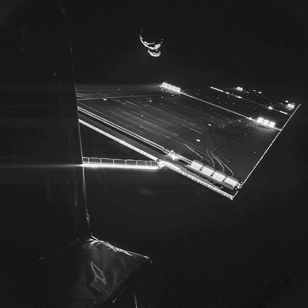 Selfie-ul realizat de Rosetta