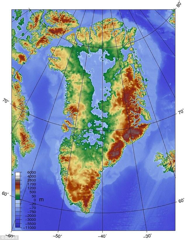 Canionul care se află sub Groenlanda