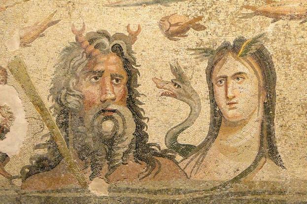 Zeul Oceanus şi zeiţa Tethis
