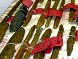 Bucăţile de metal descoperite pe epavă