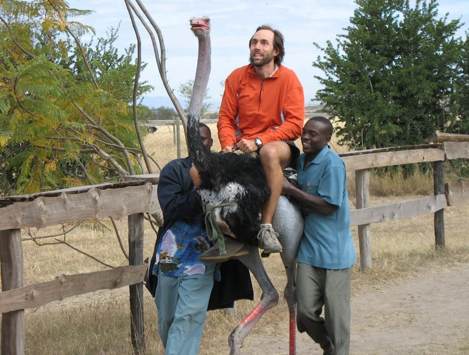 Erik într-unul din momentele sale de relaxare din Kenya