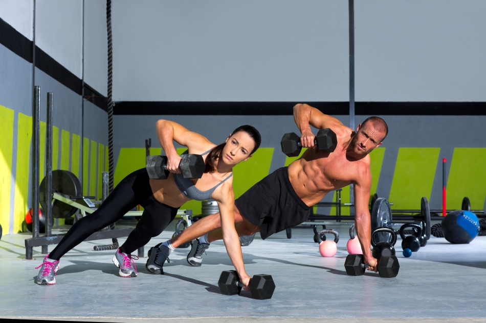 Exerciţii de cross-fit.