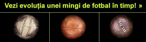 Evolutia unei mingi de fotbal in timp
