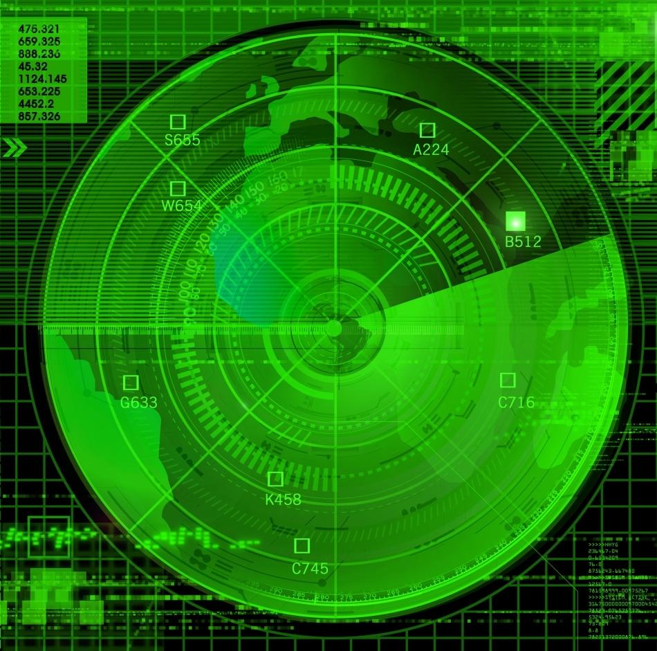 Ecranul unui radar antirachetă