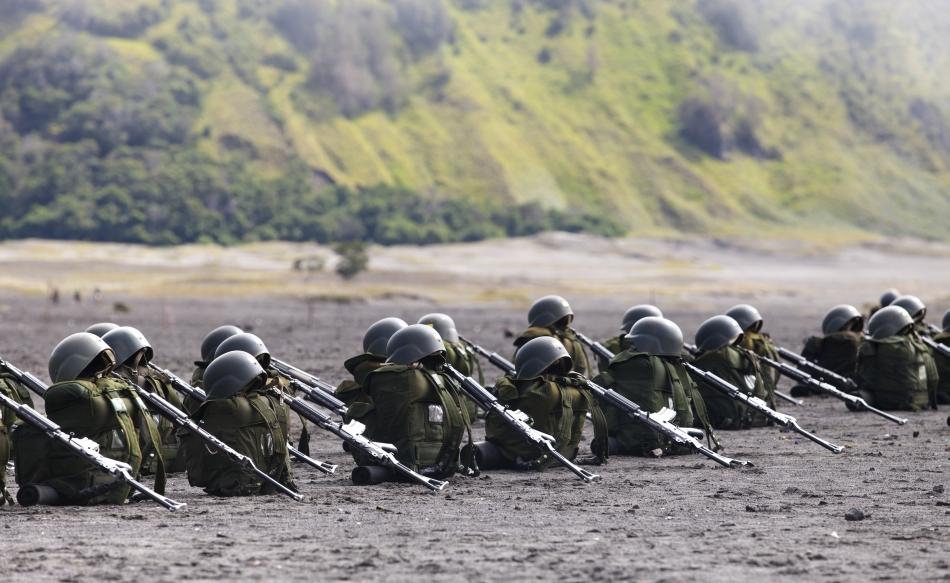 Echiapment de luptă al unei trupe de comando