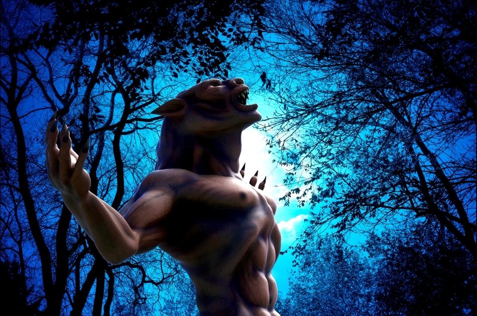"""Vârcolacul - fiinţa mitică rezultată din transformarea malefică a omului într-o fiară - este tema multor mituri, dar şi a numeroase filme """"horror"""" contemporane."""