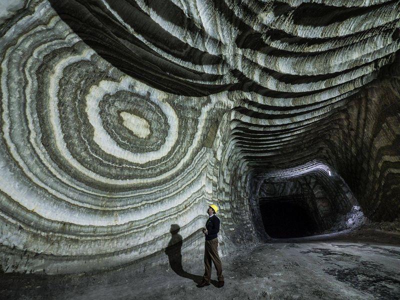 Mina de sare din Realmonte, Sicilia.